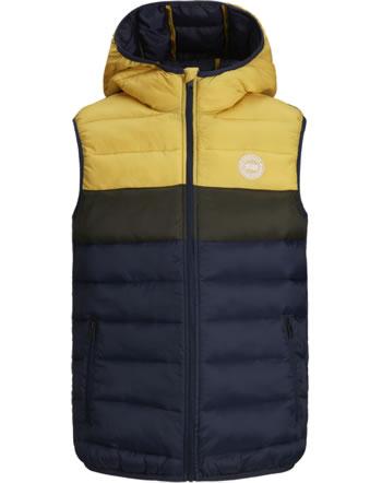 Jack & Jones Junior Vest with hood JJEMAGIC yolk yellow 12177371