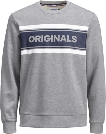 Jack & Jones Junior Sweatshirt Crew Neck light grey melange 12159313