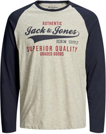 Jack & Jones Junior T-shirt long sleeve JJERAGLAN navy blazer 12173886