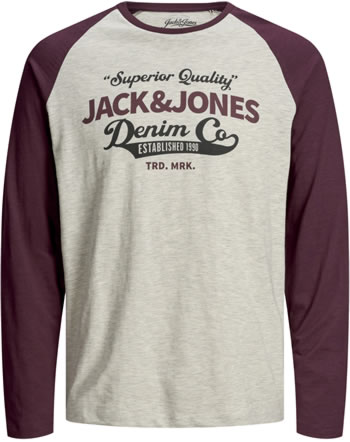 Jack & Jones Junior T-shirt manches longes JJERAGLAN port royale 12173886