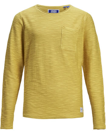 Jack & Jones Junior T-shirt manches longue JORNIELS KNIT yolk yellow 12171731