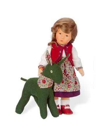 Kathe Kruse Poupée IX Helenchen avec âne Rosina 35231