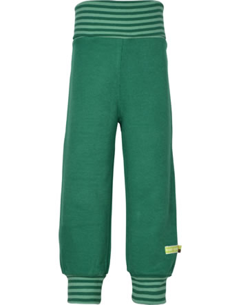 loud + proud Trousers with cuffs Interlock FOREST ANIMALS ivy 4126-ivy GOTS