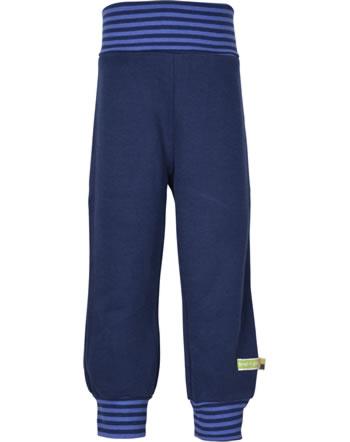 loud + proud Trousers with cuffs Interlock FOREST ANIMALS ultramarin 4126-ul GOTS