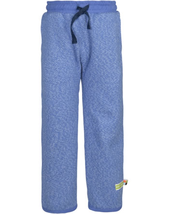 loud + proud Trousers with cuffs FOREST ANIMALS indigo 4128-ind GOTS