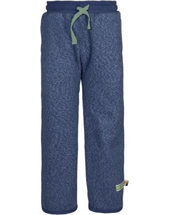loud + proud Trousers with cuffs FOREST ANIMALS ultramarin 4128-ul GOTS