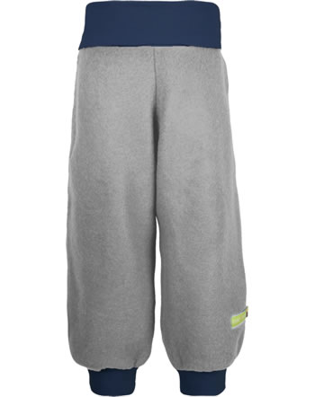 loud + proud Fleece pant with cuffs FOREST ANIMALS grey 4123-gr GOTS