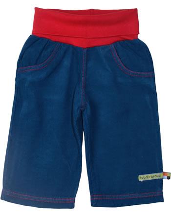 loud + proud Cord-Hose mit weichem Bund blau-rot kbA 418-ink