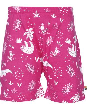 loud + proud Jersey-Shorts DSCHUNGEL azalea 4074-aza GOTS