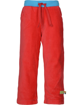 loud + proud Pants corduroy with lining melon 4090-mel GOTS