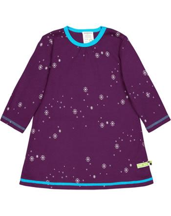 loud + proud Dress long sleeve interlock SNOWFLAKES plum 6033-plu