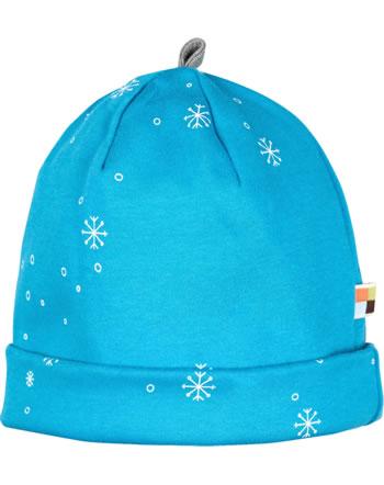 loud + proud Hat midnight SNOWFLAKES aqua 7087-aq GOTS