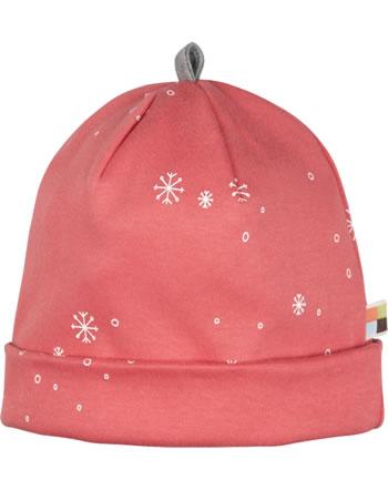 loud + proud Hat midnight SNOWFLAKES melon 7087-mel GOTS