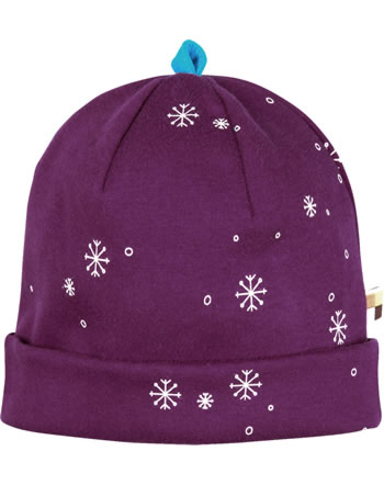loud + proud Hat midnight SNOWFLAKES plum 7087-plu GOTS