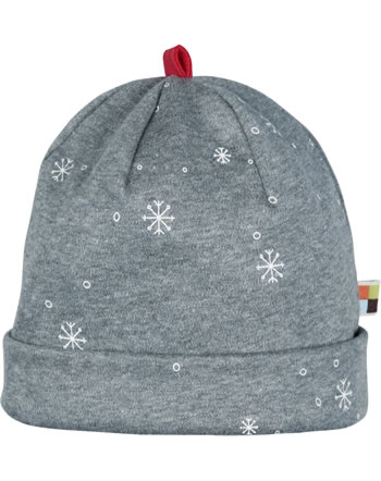 loud + proud Hat midnight SNOWFLAKES steel 7087-ste GOTS