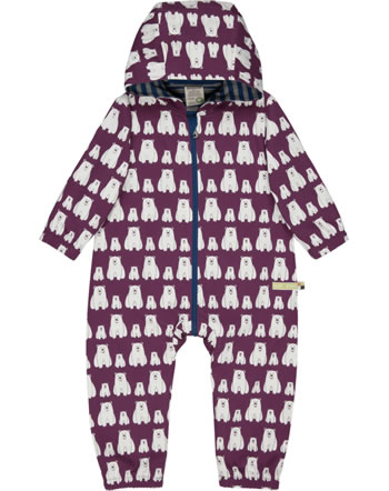 loud + proud Outdoor overall Bionic Finish ECO POLAR BEARS & ORCAS plum 5076-plu