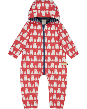 loud + proud Outdoor overall Bionic Finish ECO POLAR BEARS & ORCAS melon 5076-mel