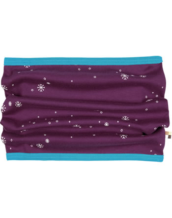 loud + proud Scarf Loop SNOWFLAKES plum 7088-plu