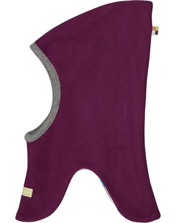 loud + proud Reversible hat fleece POLAR BEARS & ORCAS plum 7083-plu