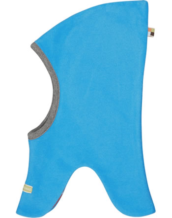 loud + proud Reversible hat fleece POLAR BEARS & ORCAS aqua 7083-aq