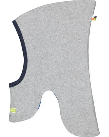 loud + proud Schlupf-Mütze zum Wenden Fleece grey melange 7055-gr GOTS