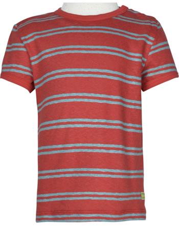 loud + proud Shirt manches courtes avec lin SOUS LA MER chili 1066-chi GOTS