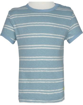 loud + proud Shirt manches courtes avec lin SOUS LA MER lagoon 1066-lag GOTS