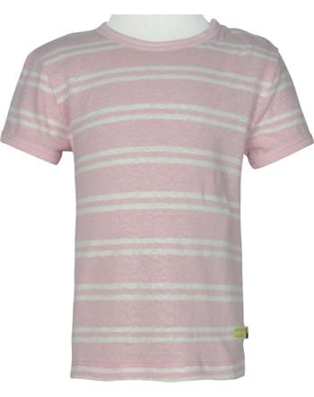 loud + proud Shirt manches courtes avec lin SOUS LA MER rosé 1066-rs GOTS