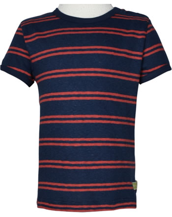 loud + proud Shirt manches courtes avec lin SOUS LA MER ultramarin 1066-ul GOTS