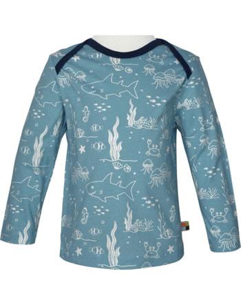 loud + proud Shirt long sleeve Single Jersey UNDER THE SEA lagoon 1062-lag GOTS