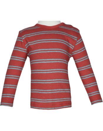 loud + proud Shirt manches longies avec lin SOUS LA MER chili 1067-chi GOTS