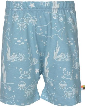 loud + proud Shorts Jersey UNTER DEM MEER lagoon 4109-lag GOTS