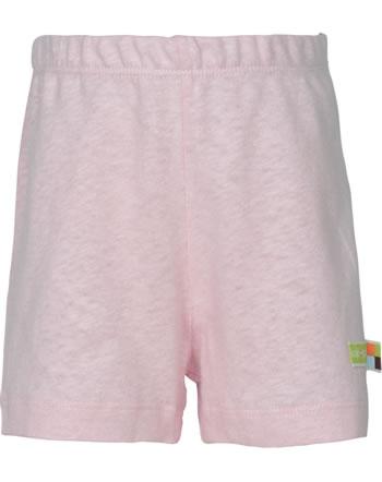 loud + proud Shorts mit Leinen UNTER DEM MEER rosé 4108-rs GOTS