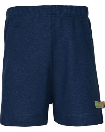 loud + proud Shorts mit Leinen UNTER DEM MEER ultramarin 4108-ul GOTS