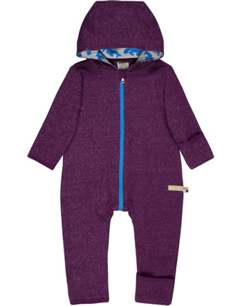loud + proud Melange Knit Overall POLAR BEARS AND ORCAS plum 5082-plu