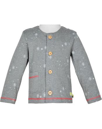 loud + proud Jacket Sweat SNOWFLAKES steel 3072-ste GOTS