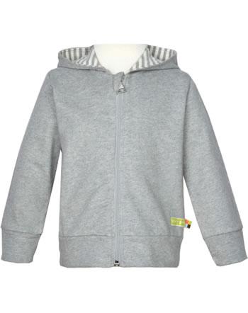 loud + proud Sweat-Jacke m.Kapuze BASIC grey 3085-gr