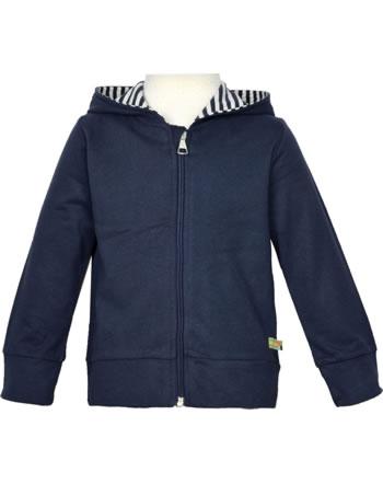 loud + proud Sweat Jacket with hood BASIC navy 3085-ny