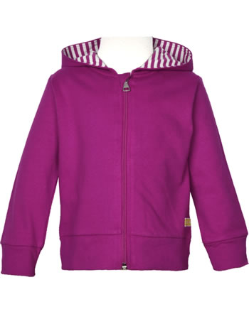 loud + proud Sweat Jacket with hood BASIC orchid 3085-or