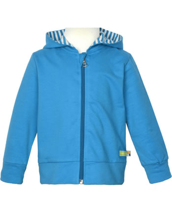loud + proud Sweat Jacket with hood BASIC petrol 3085-pe