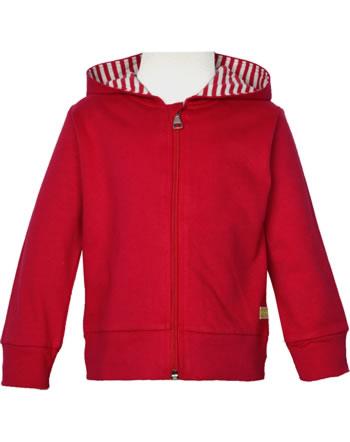 loud + proud Sweat Jacket with hood BASIC tomato 3085-to