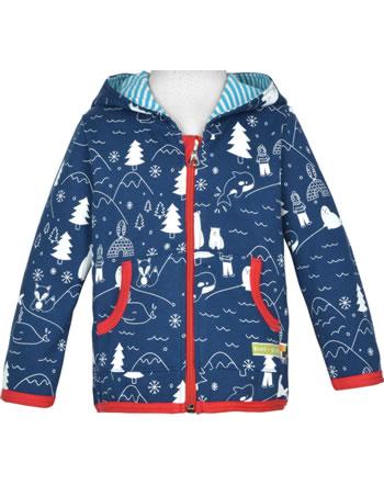 loud + proud Jacket with hood POLAR BEARS AND ORCAS ultramarine 3070-ul