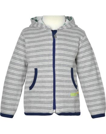 loud + proud Sweat Jacket FOREST ANIMALS grey 3090-gr GOTS