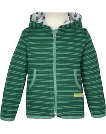 loud + proud Sweat Jacket FOREST ANIMALS ivy 3090-ivy GOTS