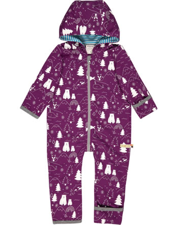 loud + proud Overall Sweat POLAR BEARS AND ORCAS plum 5081-plu