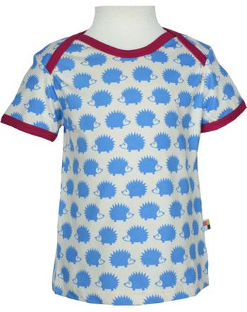 loud + proud T-Shirt Kurzarm BASIC IGEL sky 204-sk GOTS