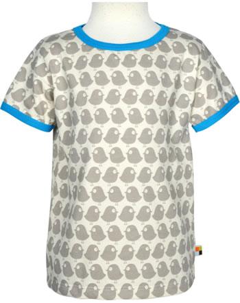 loud + proud T-Shirt Kurzarm BASIC VÖGEL stone 204-st GOTS