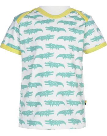 loud + proud T-Shirt Kurzarm KROKODIL mint 1034-min GOTSa