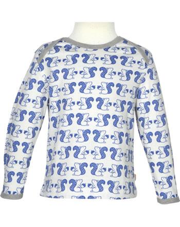 loud + proud T-Shirt Langarm Allover WALDTIRERE indigo 1075-ind GOTS