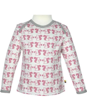loud + proud T-Shirt Langarm Allover WALDTIRERE mauve 1075-mau GOTS